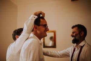 des témoins lors d'un mariage à Toulouse