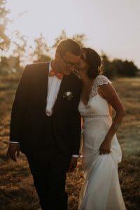 une magnifique photo d'un mariage