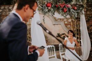 le discours du marié pendant un mariage à Toulouse
