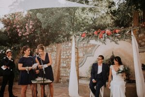 les discours des témoins aux mariés