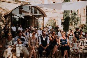 les invités d'un mariage à Toulouse