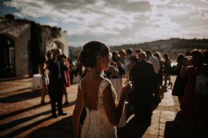 une mariée lors d'un mariage à la costa brava