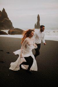 un mariage en Islande sur une plage